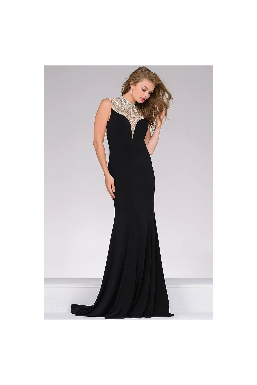 wholesale dealer 533c1 4187b abito da sera nero jovani