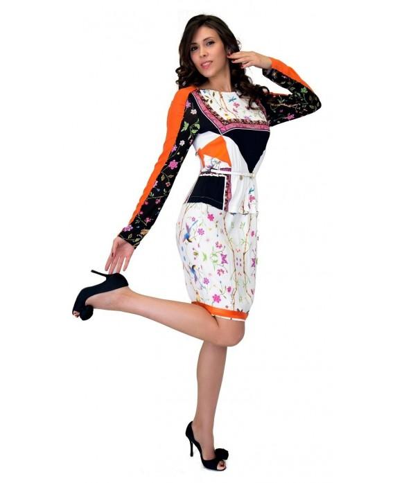 online store e11a7 864bd Noleggio Abito Cavalli Class, Abito Fantasie Floreali Cavalli Class a  Noleggio, Lovedress