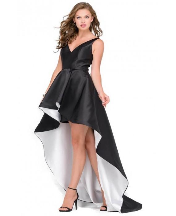 abito bianco e nero Jovani