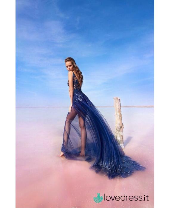 Abito Longuette Blu